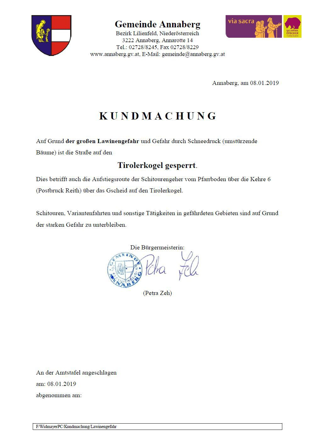 Tirolerkogel gesperrt 37