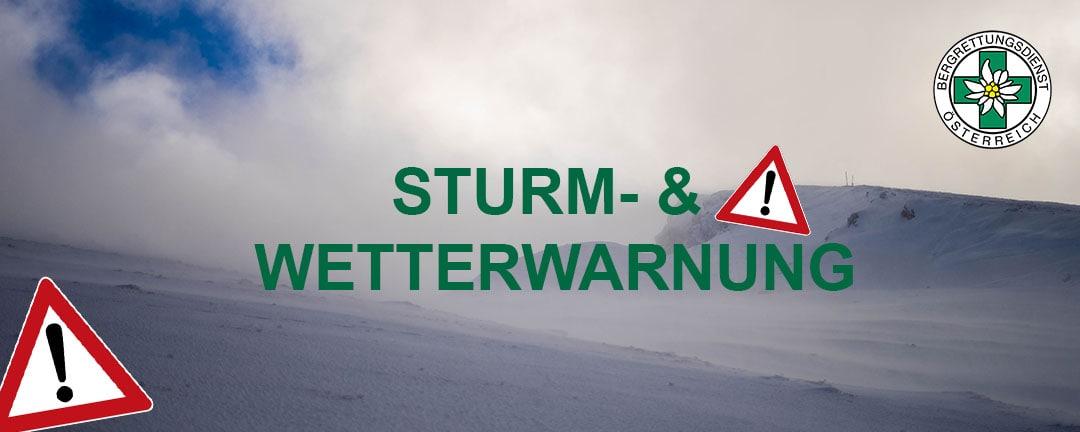 Sturm- & Wetterwarnung auch für NÖ